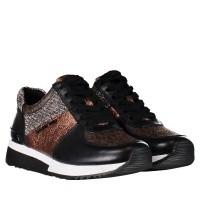 Afbeelding van Michael Kors 43F8ALFS1L dames sneakers zwart