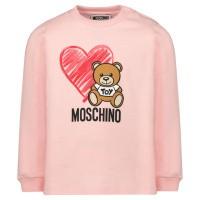 Afbeelding van Moschino MUM024 baby t-shirt licht roze