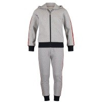 Afbeelding van Moncler 8811700 kinder joggingpak grijs