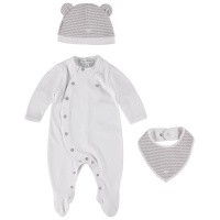Picture of Armani 3GHV14 baby playsuit light blue