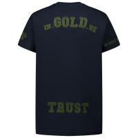 Afbeelding van in Gold We Trust CHAIN EMBROIDERY SHIRT kinder t-shirt blauw