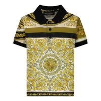 Afbeelding van Versace 1000196 1A00304 baby polo wit/goud