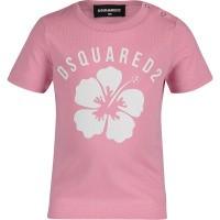 Afbeelding van Dsquared2 DQ03E6 baby t-shirt licht roze