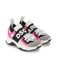 Afbeelding van Dsquared2 68556 kindersneakers wit/roze