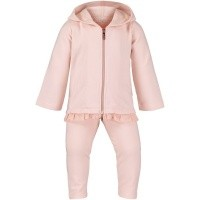 Picture of Liu Jo H68077 baby sweatsuit old pink