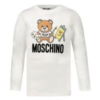 Afbeelding van Moschino MTM01V baby t-shirt off white