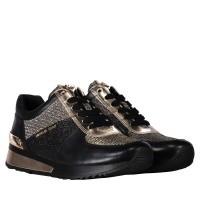 Afbeelding van Michael Kors 43T8ALFS2D dames sneakers zwart