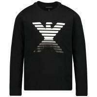Afbeelding van Armani 6G4T03 kinder t-shirt zwart