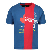 Afbeelding van Dsquared2 DQ0032 baby t-shirt cobalt blauw