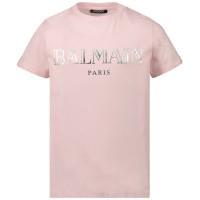 Afbeelding van Balmain 6L8021 kinder t-shirt licht roze