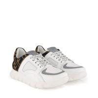 Afbeelding van Fendi JMR333 kindersneakers wit