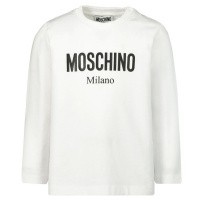 Afbeelding van Moschino MNM01V baby t-shirt wit