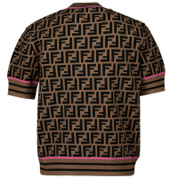 Afbeelding van Fendi JFG069 AEYD kinder t-shirt bruin