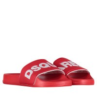 Afbeelding van Dsquared2 DY0001 kinder bandslippers rood