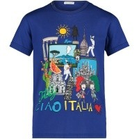 Picture of Dolce & Gabbana L4JT8D kids t-shirt cobalt blue