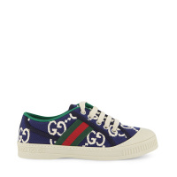 Afbeelding van Gucci 647074 kindersneakers navy/wit