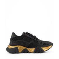 Afbeelding van Versace YHX00029 1A00332 kindersneakers zwart