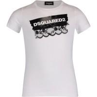 Afbeelding van Dsquared2 DQ03CM kinder t-shirt wit