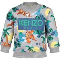 Afbeelding van Kenzo KN15588BB baby trui grijs