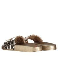 Afbeelding van Moschino JA2801 dames slippers goud
