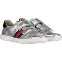 Afbeelding van Gucci 455496 DXD60 kindersneakers zilver
