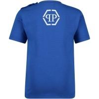 Afbeelding van Philipp Plein ATK0003 baby t-shirt cobalt blauw