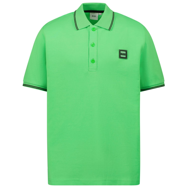 Afbeelding van Boss J25L73 kinder polo fluor groen