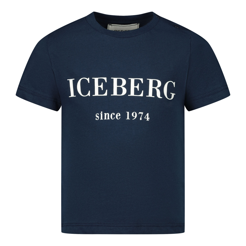 Afbeelding van Iceberg TSICET1103B baby t-shirt navy
