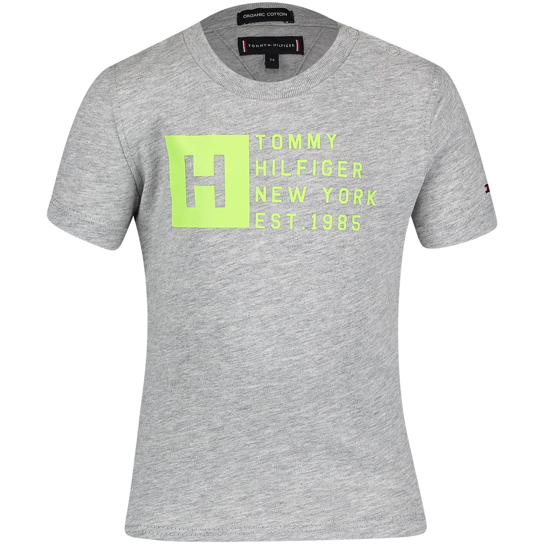 Afbeelding van Tommy Hilfiger KB0KB04537B baby t-shirt licht grijs