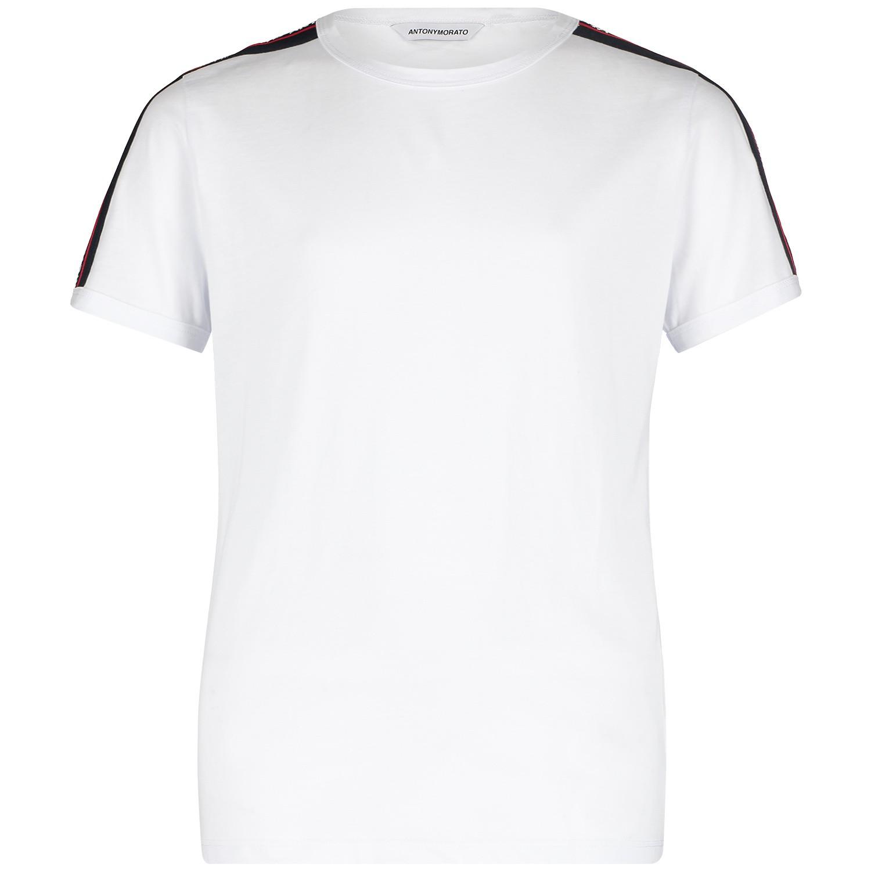 Picture of Antony Morato MKKS00387 kids t-shirt white