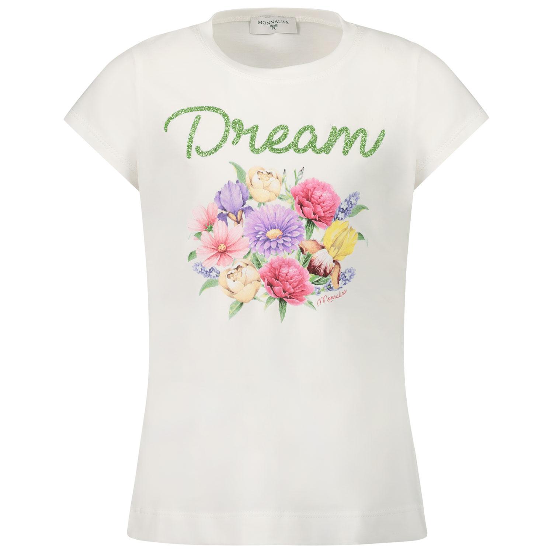 Afbeelding van MonnaLisa 117600S2 kinder t-shirt off white