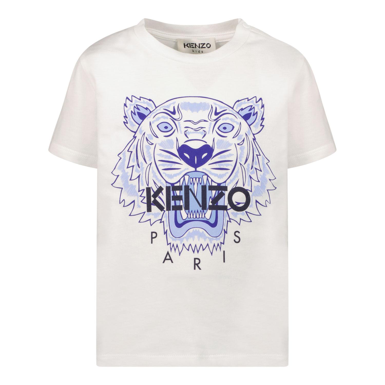 Afbeelding van Kenzo K05121 baby t-shirt wit