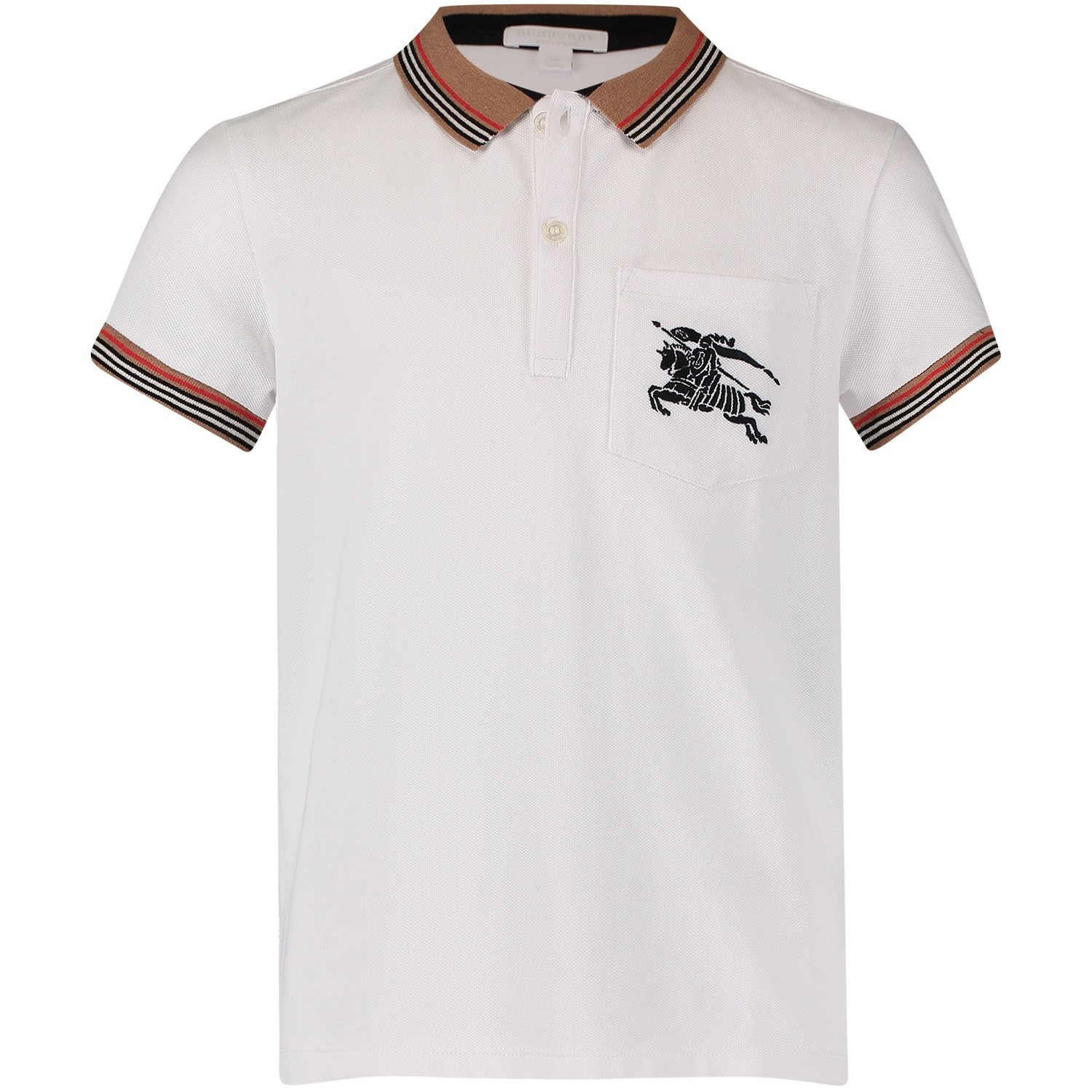 Picture of Burberry 8002848 kids polo shirt white