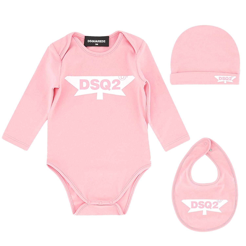 Afbeelding van Dsquared2 DQ03SL babysetje licht roze