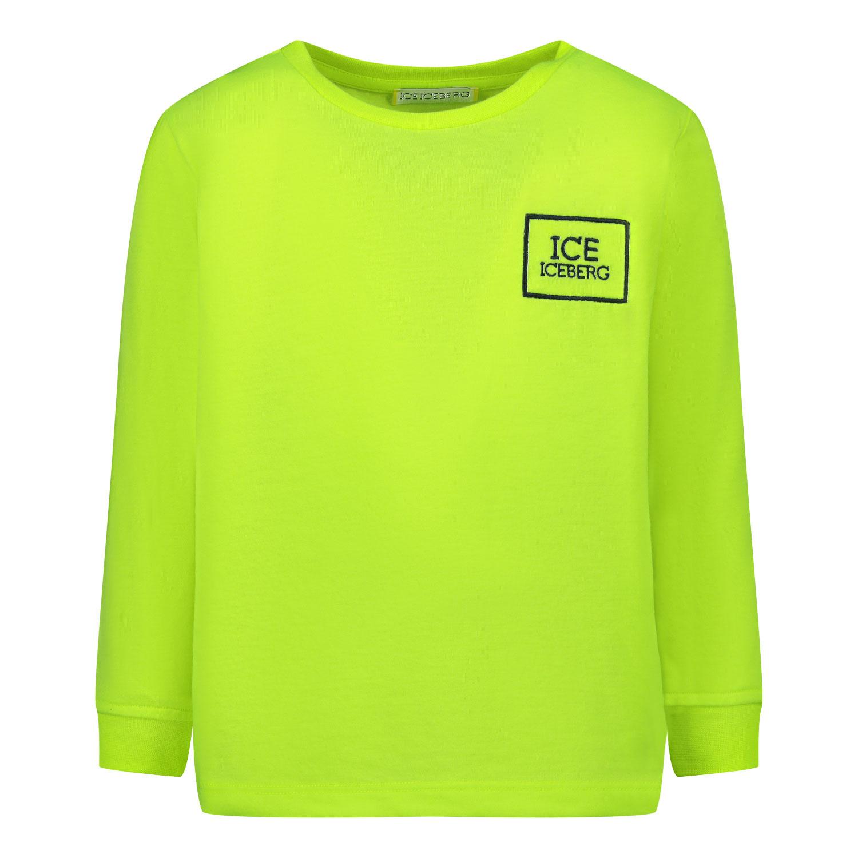Afbeelding van Iceberg TSICE0300B baby t-shirt fluor geel