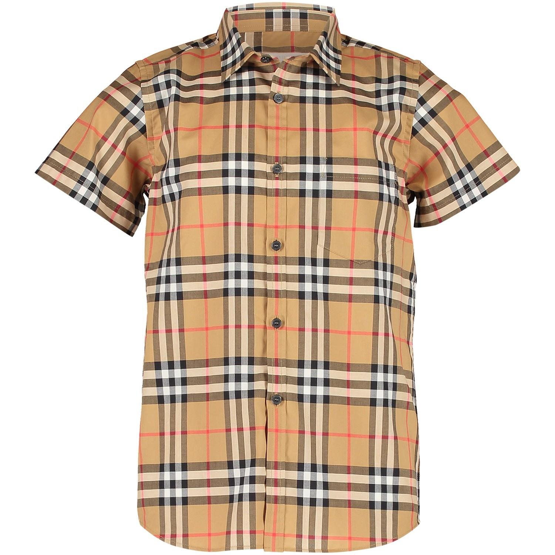 Afbeelding van Burberry 8002633 kinder overhemd beige