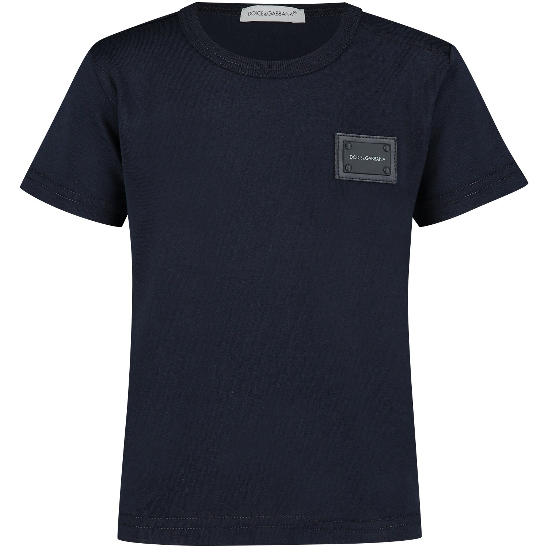 Picture of Dolce & Gabbana L1JT7T G7OLK baby shirt navy