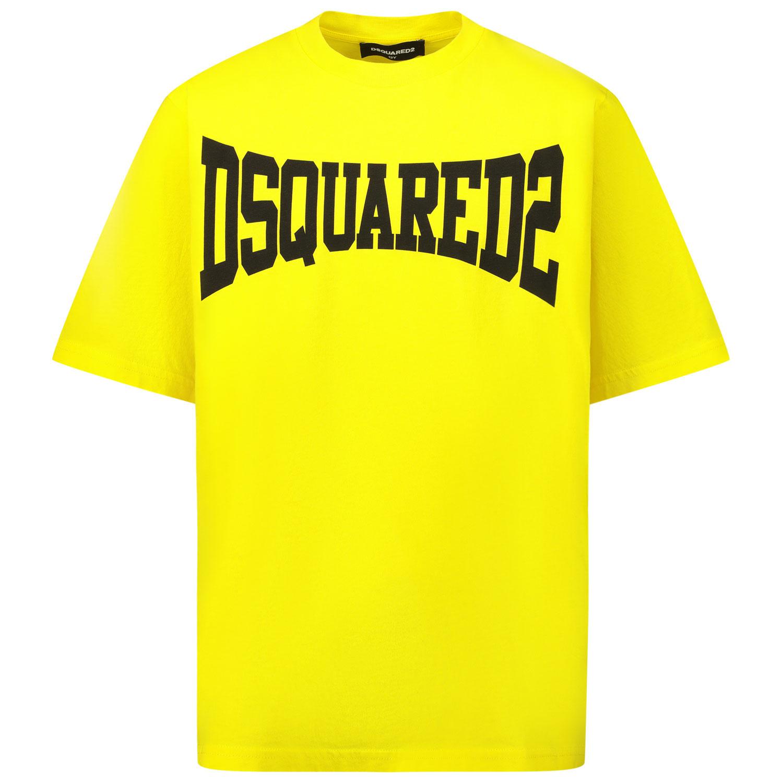 Afbeelding van Dsquared2 DQ0156 kinder t-shirt geel