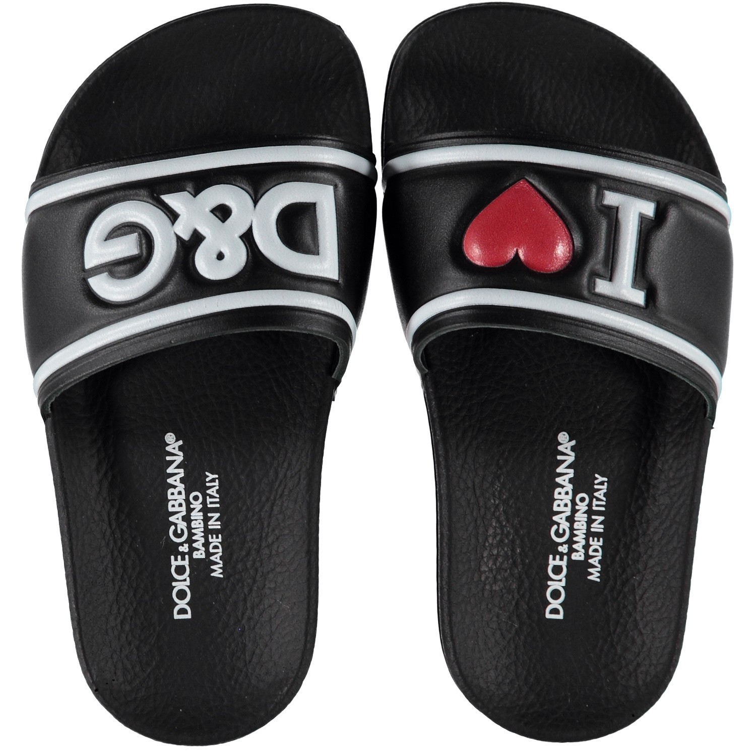 Picture of Dolce & Gabbana D10705 kids flipflops black