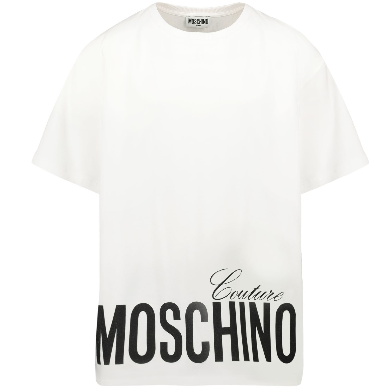 Afbeelding van Moschino HMM02X kinder t-shirt wit
