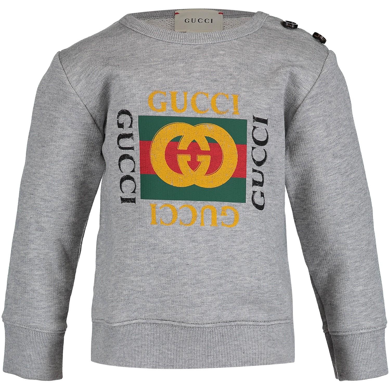 Afbeelding van Gucci 497819 baby trui grijs
