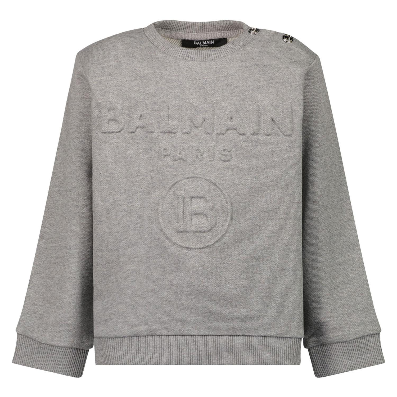 Afbeelding van Balmain 6O4A50 baby trui grijs