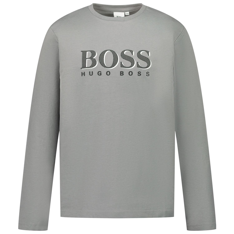 Afbeelding van Boss J25G30 kinder t-shirt grijs