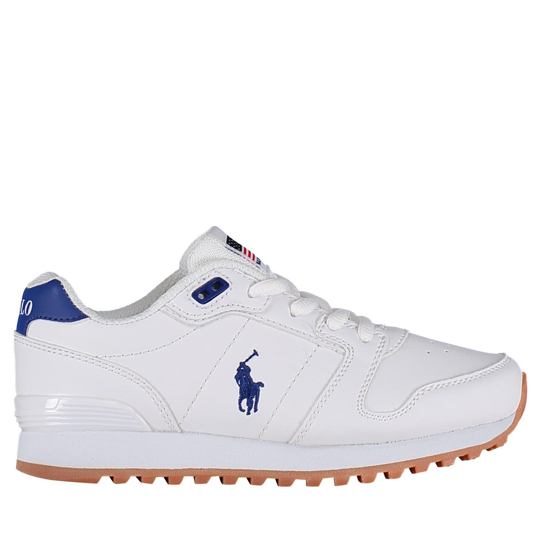 Picture of Ralph Lauren RF101682 kids sneakers white