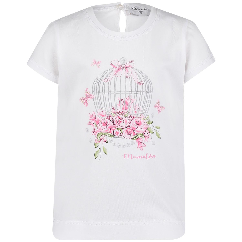 Afbeelding van MonnaLisa 313609SH baby t-shirt wit