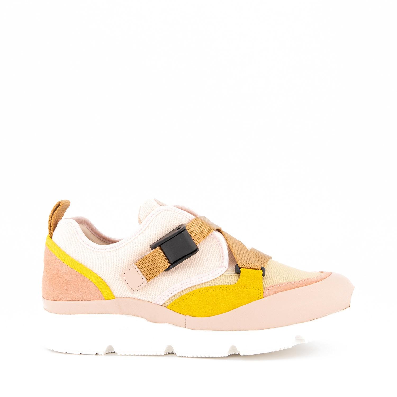 Afbeelding van Chloé C19100 kindersneakers licht roze