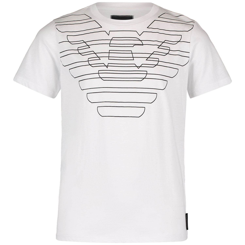 Afbeelding van Armani 3G4T85 kinder t shirt wit