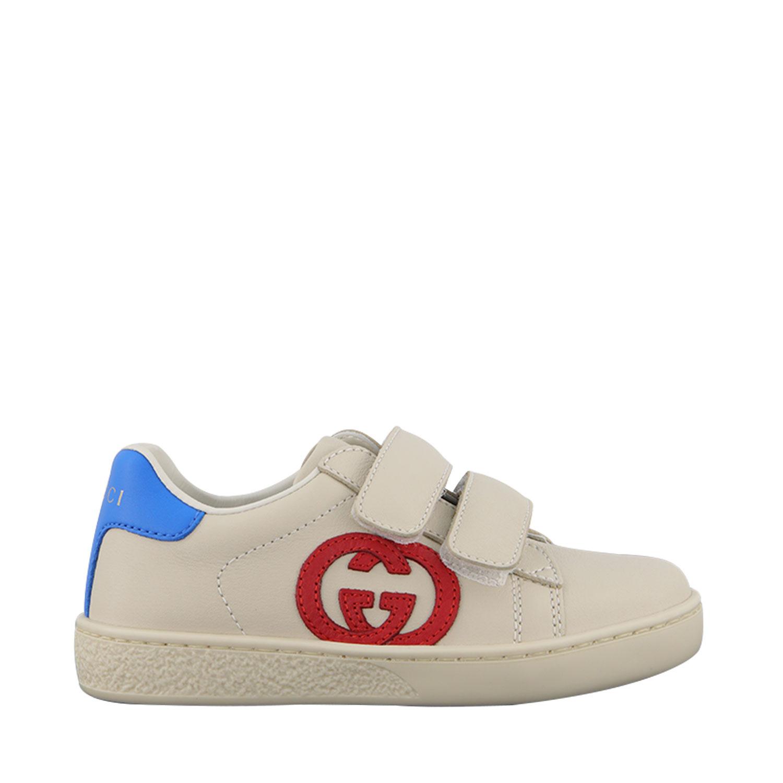 Afbeelding van Gucci 647072 kindersneakers off white