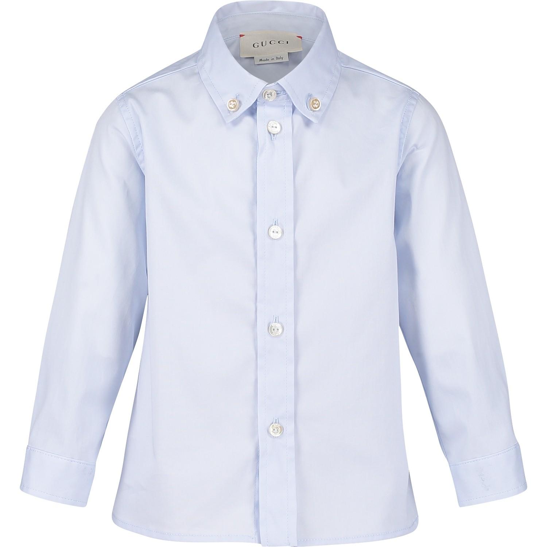 Afbeelding van Gucci 430284 baby blouse licht blauw