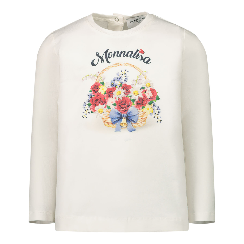 Afbeelding van MonnaLisa 396607SF baby t-shirt off white